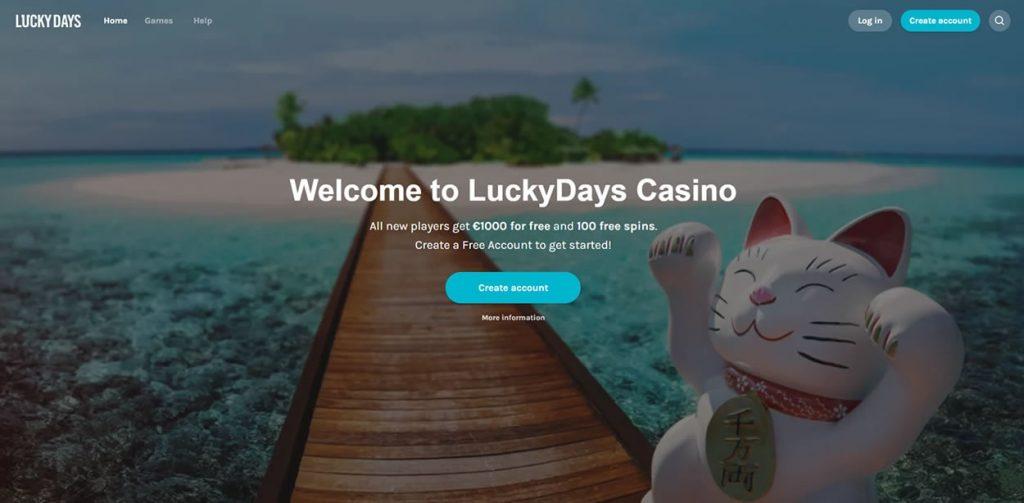 lucky days casino index