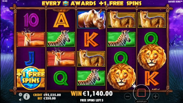 safari king slot 1