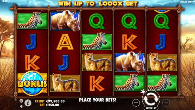 safari king slot 5